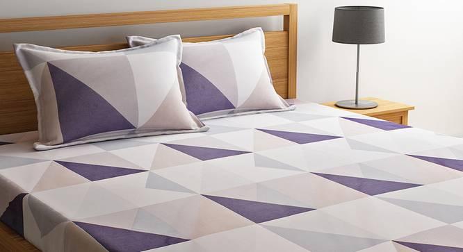 Nicolo Bedsheet Set (Beige, Double Size) by Urban Ladder - Design 1 Details - 320679