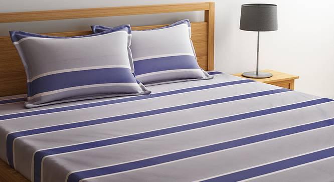 Yamin  Bedsheet Set (Grey, Double Size) by Urban Ladder - Design 1 Details - 320689