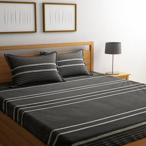 Uberto bedsheet set black geometric double lp