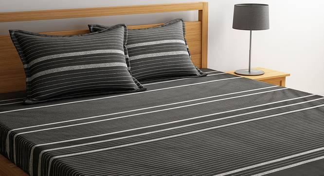 Uberto Bedsheet Set (Black, Double Size) by Urban Ladder - Design 1 Details - 320694