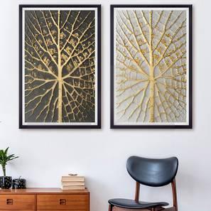 Dustin Wall Art-Set of 4 (Dark Brown) by Urban Ladder - Design 1 - 320876