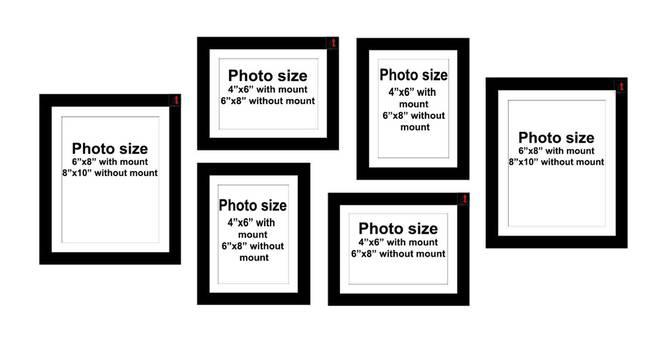 Olivia Photo Frame (Black) by Urban Ladder - Cross View Design 1 - 321002