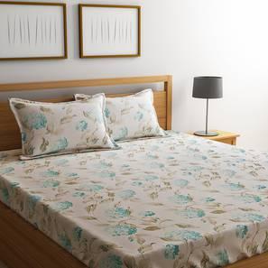 Bohr bedsheet set whie floral double lp