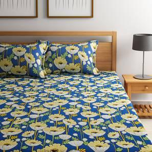 Allen bedsheet set white floral doublr lp