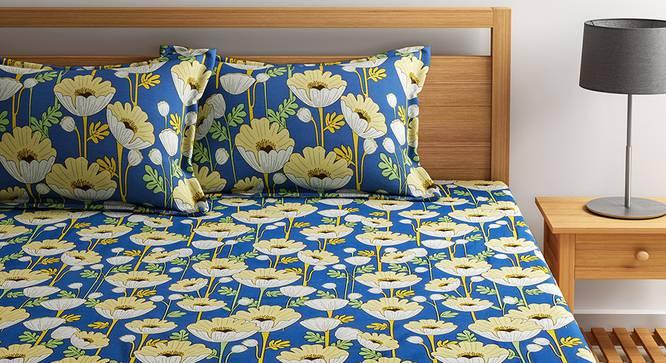 Allen Bedsheet Set (White, Double Size) by Urban Ladder - Design 1 Details - 321055