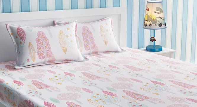 Clauser Bedsheet Set (White, Double Size) by Urban Ladder - Design 1 Details - 321089