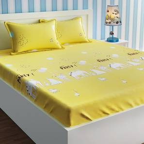 Valerie Bedsheet Set (Yellow, Double Size) by Urban Ladder - Design 1 Details - 321099