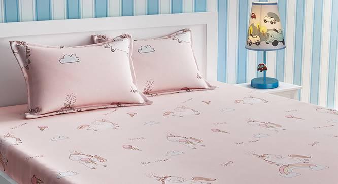 Eloise Bedsheet Set (Pink, Double Size) by Urban Ladder - Design 1 Details - 321104
