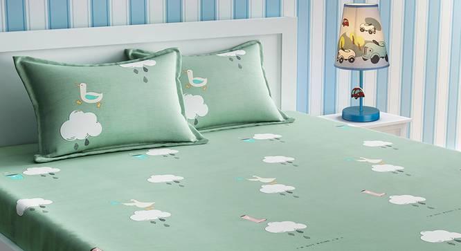 Genevieve Bedsheet Set (Green, Double Size) by Urban Ladder - Design 1 Details - 321115