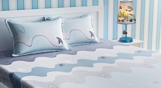 Ember Bedsheet Set (Grey, Double Size) by Urban Ladder - Design 1 Details - 321130