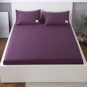 Michelle Bedsheet Set (Purple, Double Size) by Urban Ladder - Design 1 Details - 321173