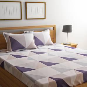 Paris Bedsheet Set (Beige, King Size) by Urban Ladder - Design 1 Details - 321203
