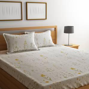 Elle Bedsheet Set (White, King Size) by Urban Ladder - Design 1 Details - 321208