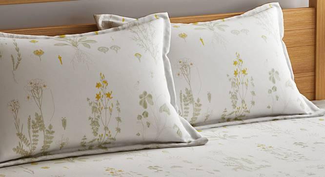 Elle Bedsheet Set (White, King Size) by Urban Ladder - Design 1 Top View - 321209