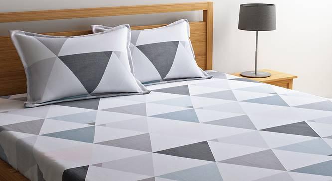 Madelynn Bedsheet Set (White, King Size) by Urban Ladder - Design 1 Details - 321233