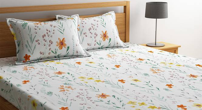 Remy Bedsheet Set (White, King Size) by Urban Ladder - Design 1 Details - 321253