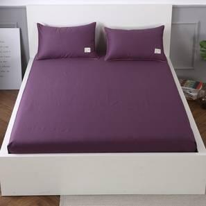 Jolie Bedsheet Set (Purple, King Size) by Urban Ladder - Design 1 Details - 321278
