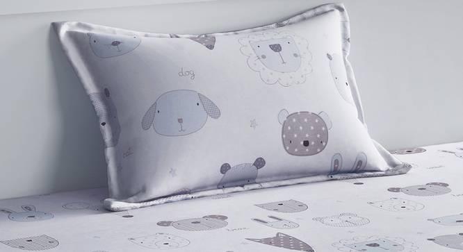 Emmeline Bedsheet Set (White, Single Size) by Urban Ladder - Design 1 Top View - 321299