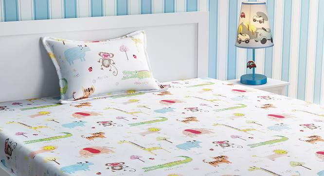 Estelle Bedsheet Set (White, Single Size) by Urban Ladder - Design 1 Details - 321308
