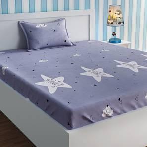 Belle Bedsheet Set (Grey, Single Size) by Urban Ladder - Design 1 Details - 321333
