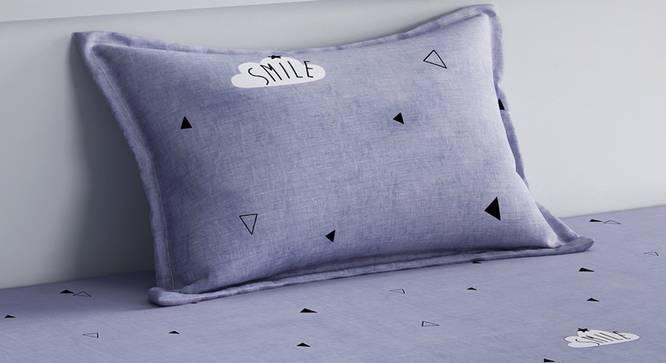 Belle Bedsheet Set (Grey, Single Size) by Urban Ladder - Design 1 Top View - 321334