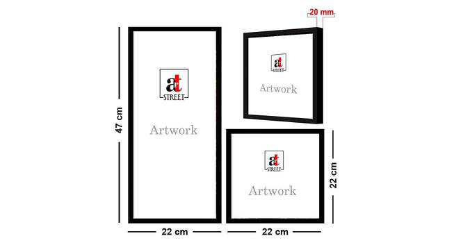 Chloe Wall Decor-Set of 3 by Urban Ladder - Cross View Design 1 - 321363