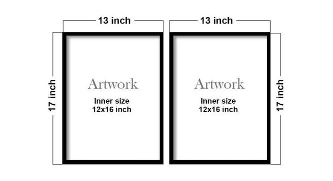 Ava Wall Decor-Set of 2 by Urban Ladder - Cross View Design 1 - 321425