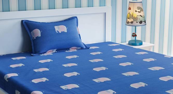 Arlette Bedsheet Set (Blue, Single Size) by Urban Ladder - Design 1 Top View - 321530