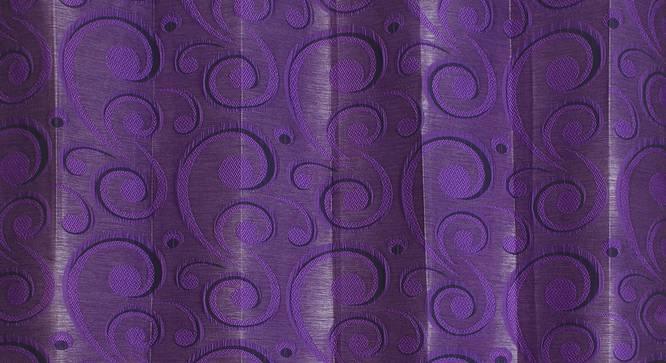 "Alandra Door Curtain - Set Of 2 (Purple, 112 x 213 cm  (44"" x 84"") Curtain Size) by Urban Ladder - Design 1 Close View - 321549"
