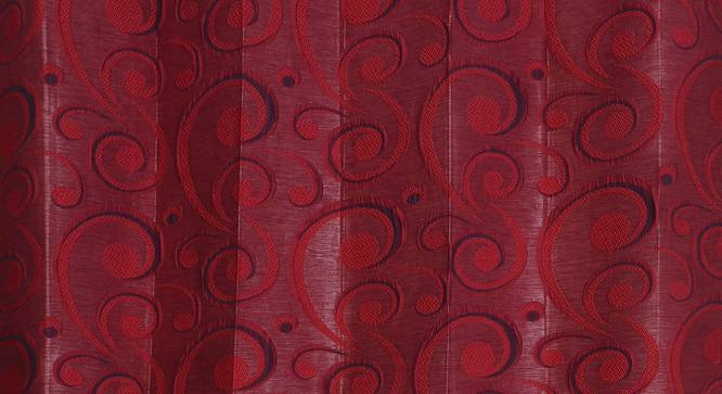 """Alandra Door Curtain - Set Of 2 (Red, 112 x 213 cm  (44"""" x 84"""") Curtain Size) by Urban Ladder - Design 1 Close View - 321557"""