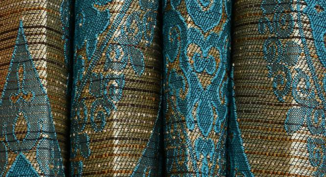 """Ava Door Curtain - Set Of 2 (Blue, 112 x 213 cm  (44"""" x 84"""") Curtain Size) by Urban Ladder - Design 1 Close View - 321584"""