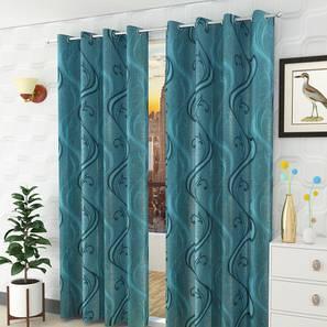 Cinder door curtain set of 2 blue 7 lp