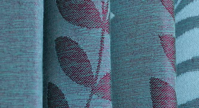 "Clara Door Curtain - Set Of 2 (Blue, 112 x 274 cm  (44"" x 108"") Curtain Size) by Urban Ladder - Design 1 Close View - 321661"