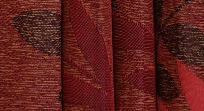 "Clara Door Curtain - Set Of 2 (Red, 112 x 274 cm  (44"" x 108"") Curtain Size) by Urban Ladder - Design 1 Close View - 321668"