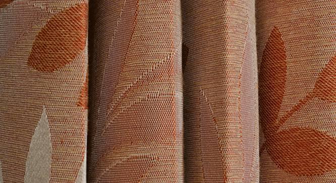 "Clara Door Curtain - Set Of 2 (Orange, 112 x 274 cm  (44"" x 108"") Curtain Size) by Urban Ladder - Design 1 Close View - 321692"