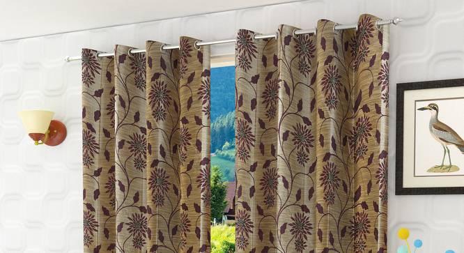 "Denise Door Curtain - Set Of 2 (Wine, 112 x 274 cm  (44"" x 108"") Curtain Size) by Urban Ladder - Design 1 Half View - 321708"