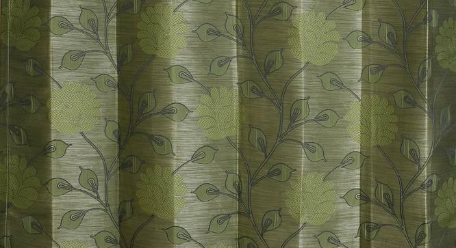 "Fernanda Door Curtain - Set Of 2 (Green, 112 x 213 cm  (44"" x 84"") Curtain Size) by Urban Ladder - Design 1 Close View - 321723"