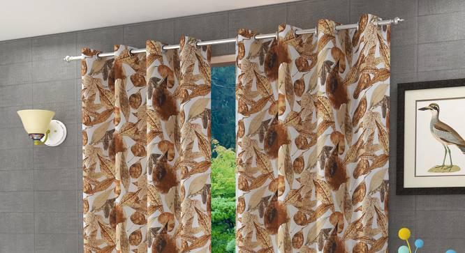 "Elata Window Curtain - Set Of 2 (112 x 152 cm  (44"" x 60"") Curtain Size) by Urban Ladder - Design 1 Half View - 321730"
