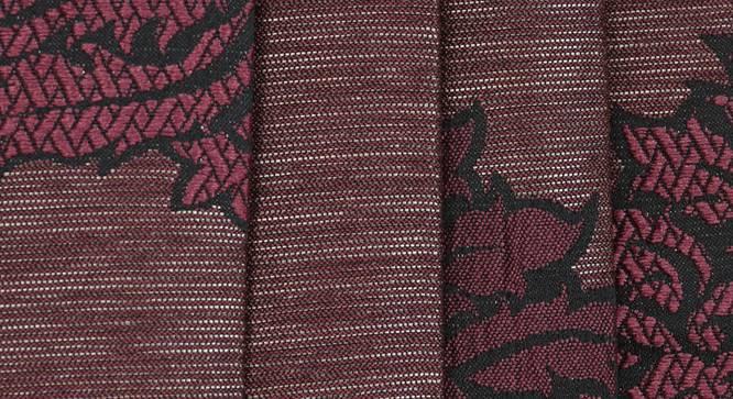 "Glaucia Window Curtain - Set Of 2 (Wine, 112 x 152 cm  (44"" x 60"") Curtain Size) by Urban Ladder - Design 1 Close View - 321782"
