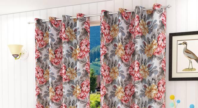 "Incarnata Window Curtain - Set Of 2 (112 x 152 cm  (44"" x 60"") Curtain Size) by Urban Ladder - Design 1 Half View - 321793"