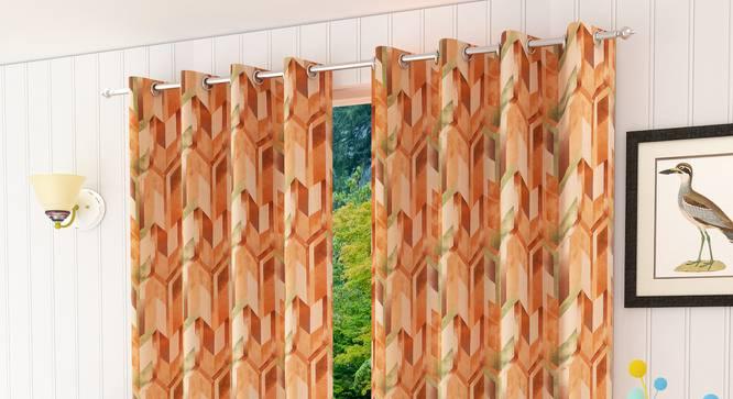 "Italica Door Curtain - Set Of 2 (112 x 274 cm  (44"" x 108"") Curtain Size) by Urban Ladder - Design 1 Half View - 321814"