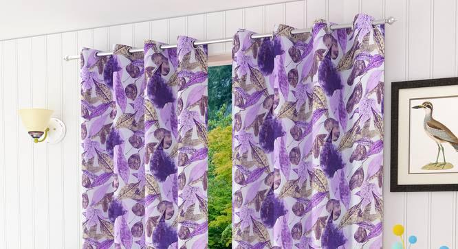 "Italica Door Curtain - Set Of 2 (112 x 213 cm  (44"" x 84"") Curtain Size) by Urban Ladder - Design 1 Half View - 321816"