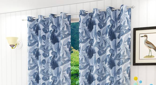 "Italica Door Curtain - Set Of 2 (112 x 274 cm  (44"" x 108"") Curtain Size) by Urban Ladder - Design 1 Half View - 321833"