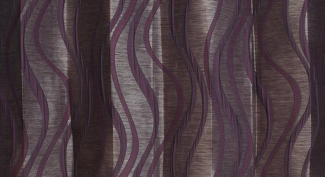 "Kacey Door Curtain - Set Of 2 (Wine, 112 x 274 cm  (44"" x 108"") Curtain Size) by Urban Ladder - Design 1 Close View - 321869"