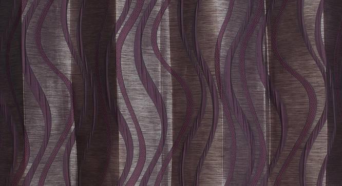 "Kacey Window Curtain - Set Of 2 (Wine, 112 x 152 cm  (44"" x 60"") Curtain Size) by Urban Ladder - Design 1 Close View - 321878"