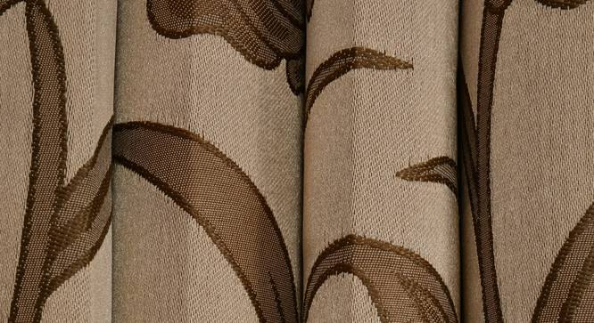 "Kaia Door Curtain - Set Of 2 (Gold, 112 x 274 cm  (44"" x 108"") Curtain Size) by Urban Ladder - Design 1 Close View - 321896"