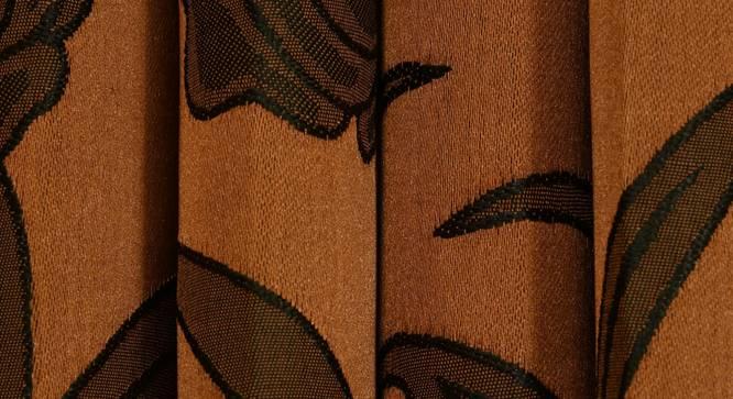 "Kaia Window Curtain - Set Of 2 (Rust, 112 x 152 cm  (44"" x 60"") Curtain Size) by Urban Ladder - Design 1 Close View - 321926"