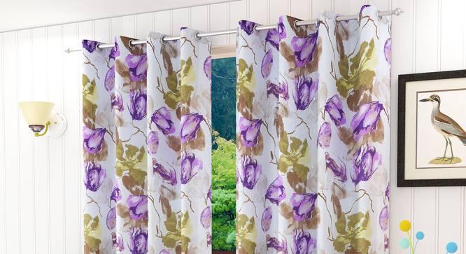 """Larmen Door Curtain - Set Of 2 (112 x 213 cm  (44"""" x 84"""") Curtain Size) by Urban Ladder - Design 1 Half View - 321929"""