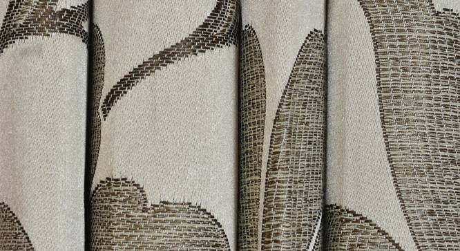 """Lillian Door Curtain - Set Of 2 (Brown, 112 x 213 cm  (44"""" x 84"""") Curtain Size) by Urban Ladder - Design 1 Close View - 321960"""