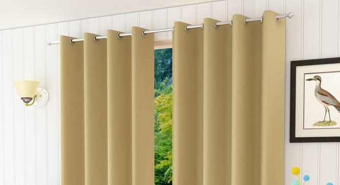 "Lillian Door Curtain - Set Of 2 (Beige, 112 x 213 cm  (44"" x 84"") Curtain Size) by Urban Ladder - Design 1 Half View - 321969"